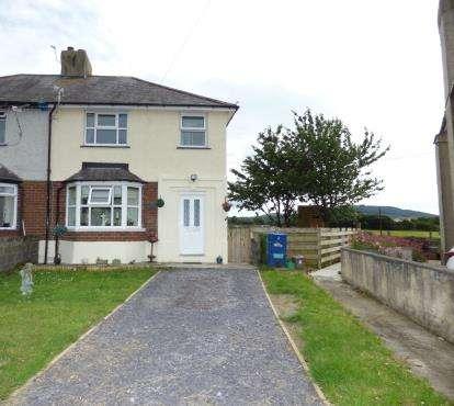 3 Bedrooms Semi Detached House for sale in Tyddyn Canol, Llanllechid, Bangor, Gwynedd, LL57