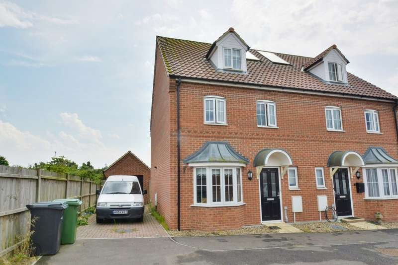 4 Bedrooms Semi Detached House for sale in Blackbird Way, Harleston