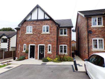 3 Bedrooms Semi Detached House for sale in Manor Road, Woodley, Cheshire