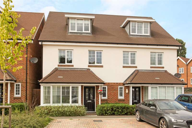 4 Bedrooms Semi Detached House for sale in Watersedge Drive, Godalming, Surrey, GU7