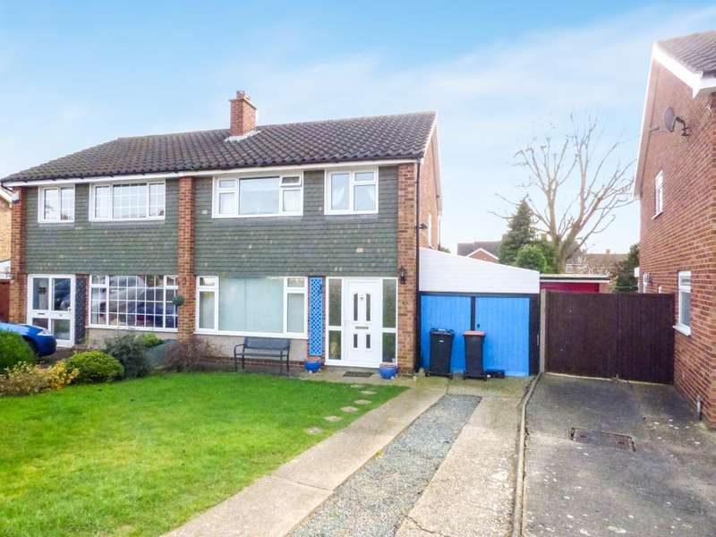 3 Bedrooms Semi Detached House for sale in Pevensey Road, Bedford, MK41 8HW
