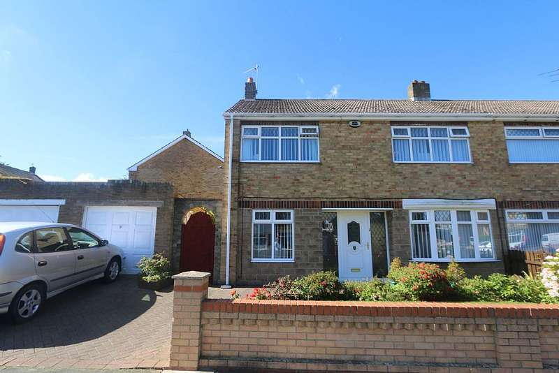 3 Bedrooms Semi Detached House for sale in Sandbanks Drive, Hartlepool, Durham, TS24 9RP