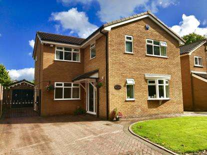 4 Bedrooms Detached House for sale in Coldstream Close, Cinnamon Brow, Fearnhead, Cheshire