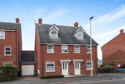 3 Bedrooms Semi Detached House for sale in Thatcham Avenue Kingsway, Quedgeley, Gloucester, Gloucestershire