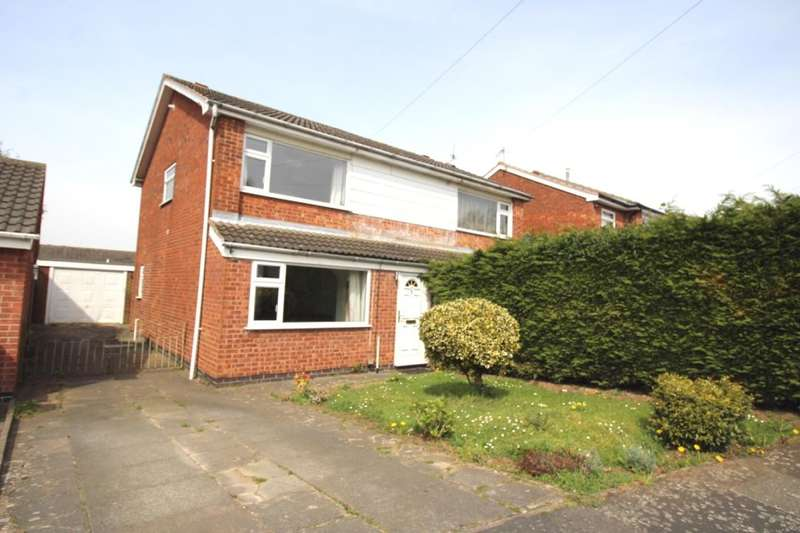 3 Bedrooms Semi Detached House for sale in Erskine Close, Hinckley, LE10