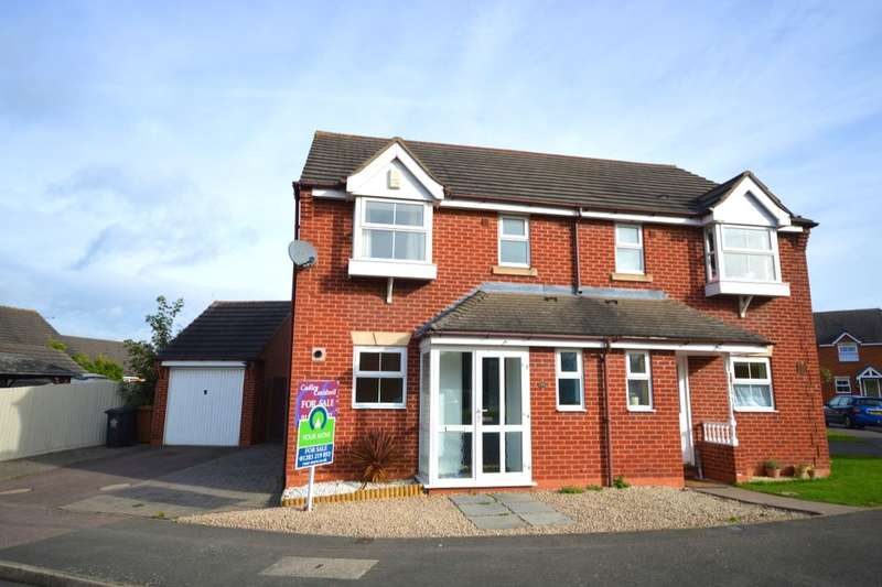 3 Bedrooms Semi Detached House for sale in Bourne Way, SWADLINCOTE, DE11