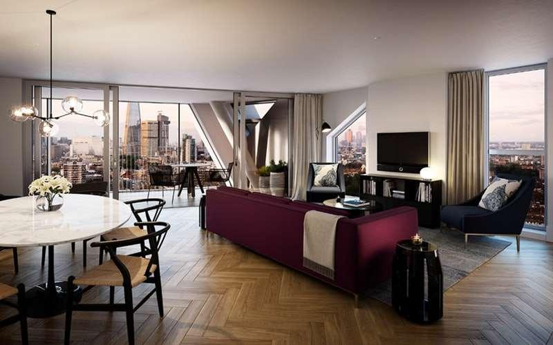 1 Bedroom Apartment Flat for sale in Southwark Bridge Road, London, London, SE1