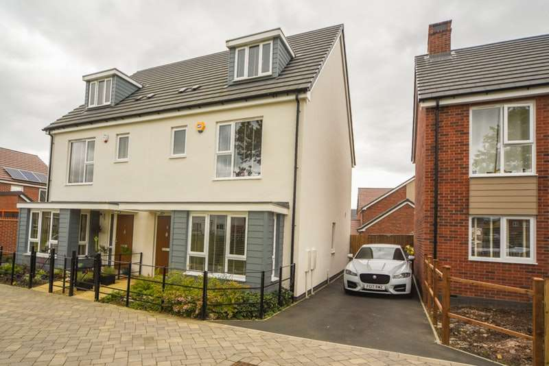 4 Bedrooms Semi Detached House for sale in Hornbeam Close, Coalville, Leicestershire, LE67