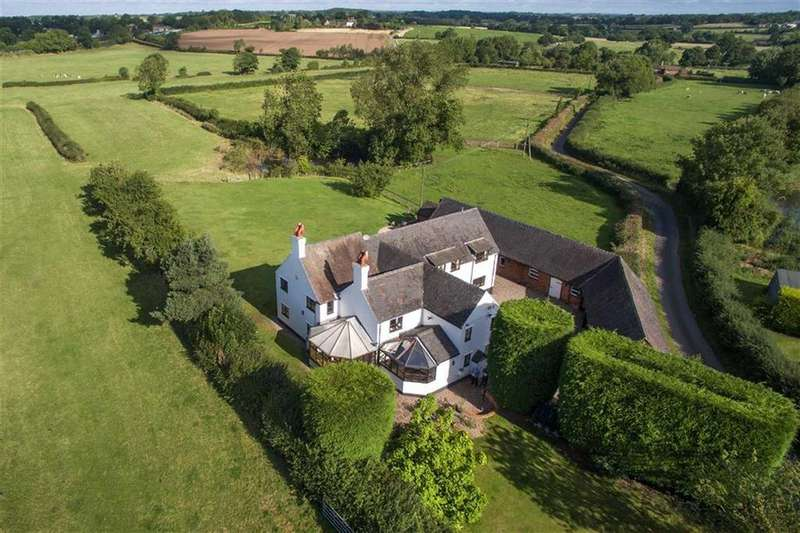 5 Bedrooms Detached House for sale in Cresswell Farmhouse, And Outbuildings, Barn Lane, Stafford, South Staffordshire, ST19