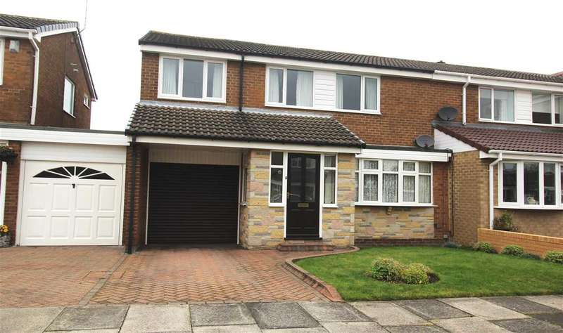 4 Bedrooms Semi Detached House for sale in Windburgh Drive, Southfield Lea, Cramlington