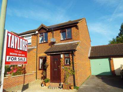 3 Bedrooms Semi Detached House for sale in Manston Close, Bicester, Oxfordshire