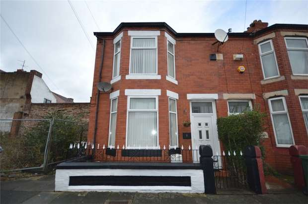 3 Bedrooms End Of Terrace House for sale in Esher Road, New Ferry, Merseyside