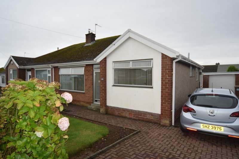 3 Bedrooms Semi Detached Bungalow for sale in Greystoke Gardens, Barrow-in-Furness, Cumbria, LA14 4PW