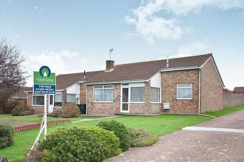 2 Bedrooms Semi Detached Bungalow for sale in Anderida Road, Eastbourne, BN22