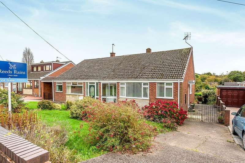2 Bedrooms Semi Detached Bungalow for sale in Priory Road, Hednesford, Cannock, WS12