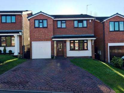 4 Bedrooms Detached House for sale in Harlech Way, Dudley, West Midlands