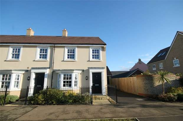 3 Bedrooms End Of Terrace House for sale in King Alfred Way, Great Denham, Bedford