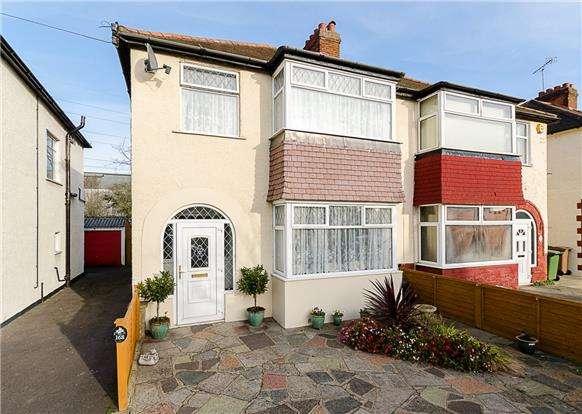 3 Bedrooms Semi Detached House for sale in Hamilton Avenue, SUTTON, Surrey, SM3 9DT