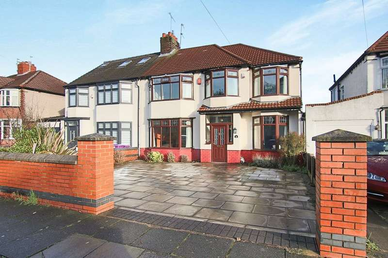 5 Bedrooms Semi Detached House for sale in Whinmoor Road, West Derby, Liverpool, L12