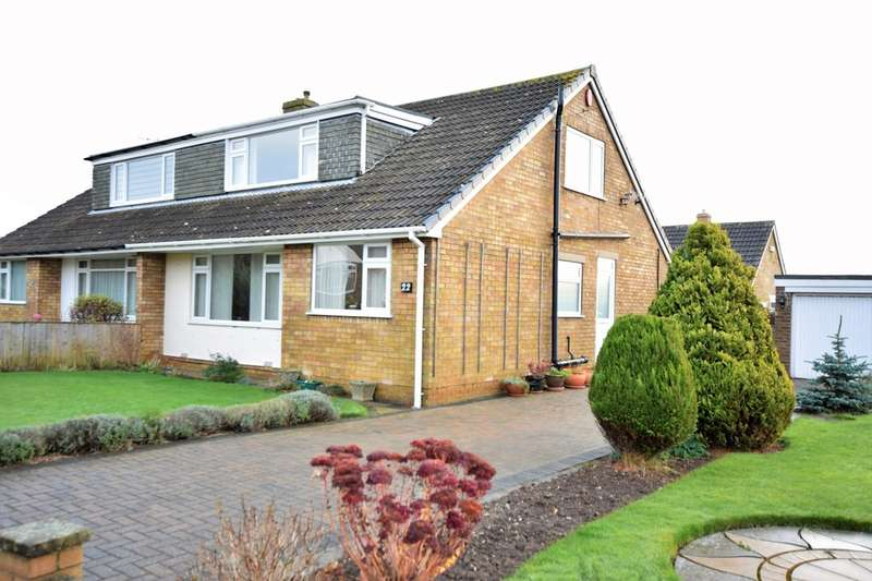 3 Bedrooms Semi Detached Bungalow for sale in Ridge Green, Scalby
