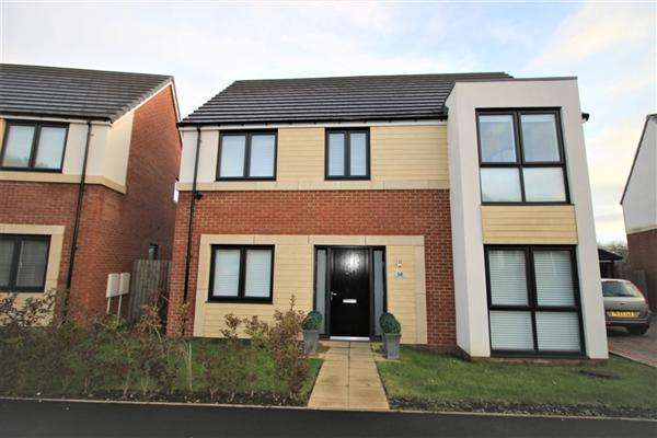 4 Bedrooms Detached House for rent in Woodburn Grove, Langley Moor, Langley Moor
