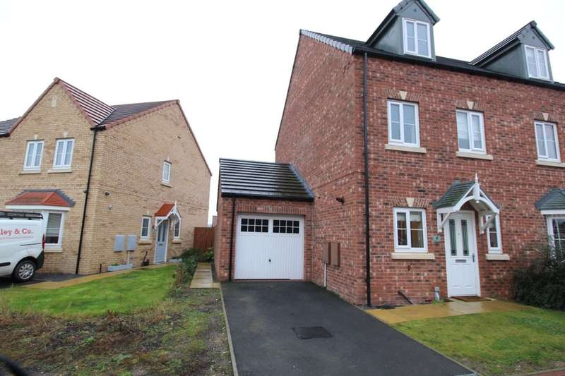 3 Bedrooms Semi Detached House for sale in Hatfield Grove, Laughton Common,Dinnington, Sheffield, S25