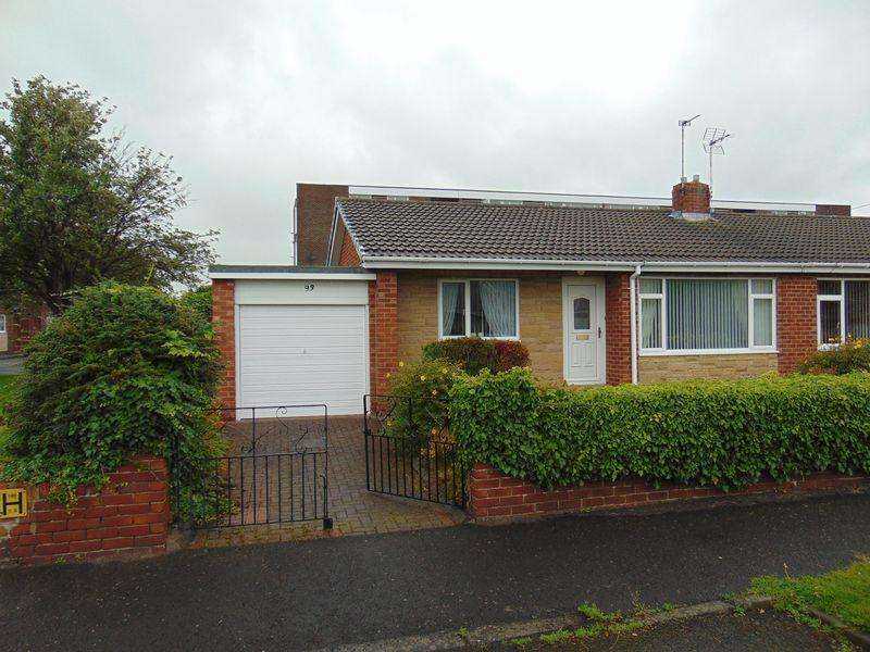 2 Bedrooms Semi Detached Bungalow for sale in Meadway, Forest Hall, Newcastle Upon Tyne