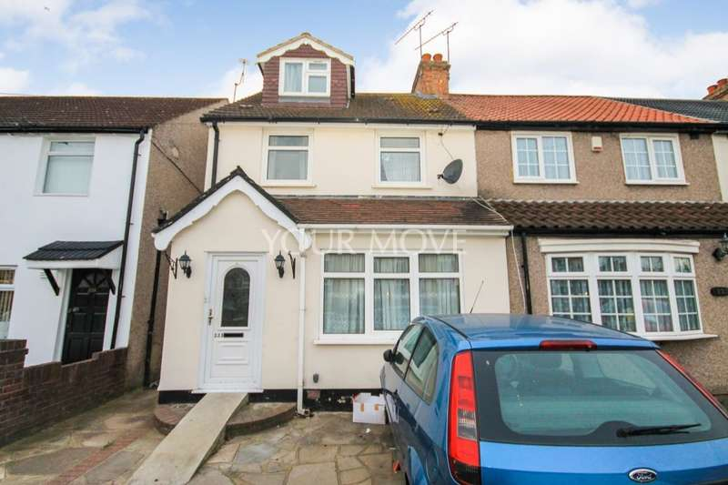 4 Bedrooms Semi Detached House for sale in Straight Road, Romford, RM3