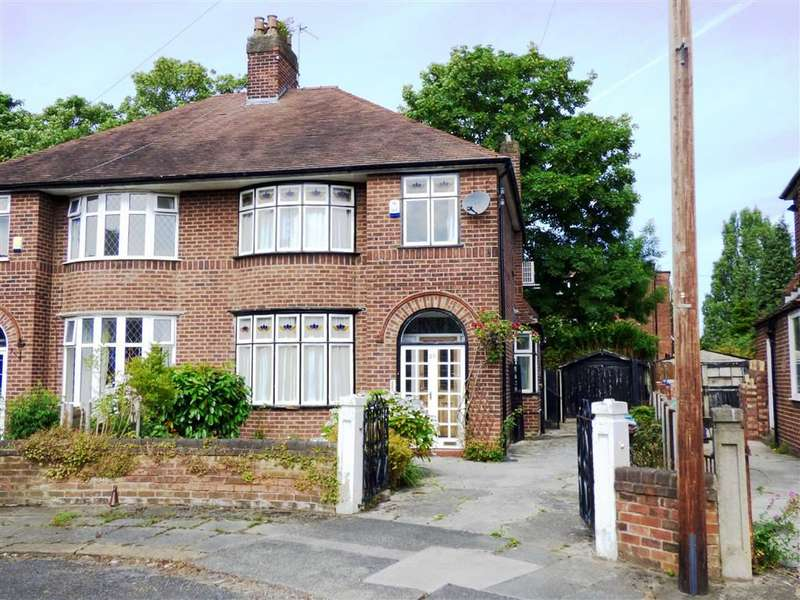 3 Bedrooms Semi Detached House for sale in Brooklawn Drive, Didsbury, Manchester, M20