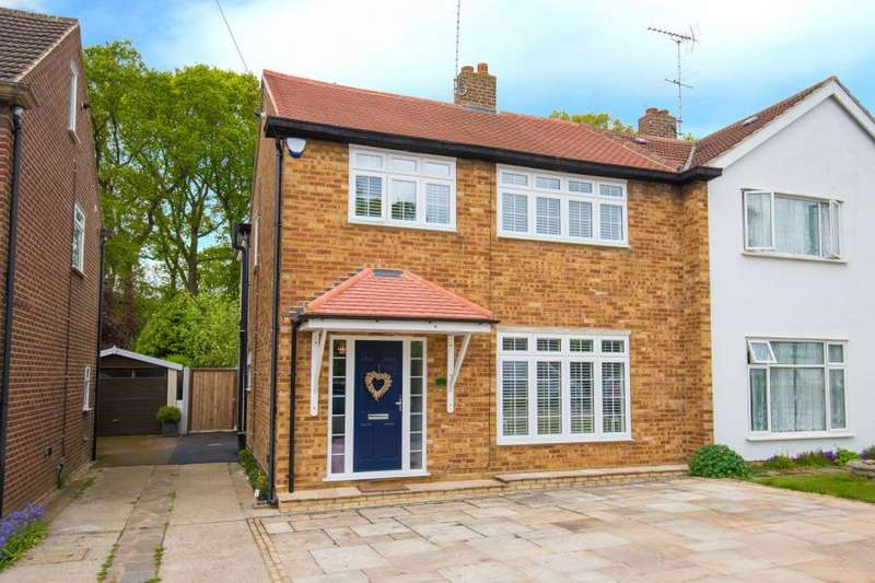 4 Bedrooms Semi Detached House for sale in Walton Gardens, Hutton, Brentwood, Essex
