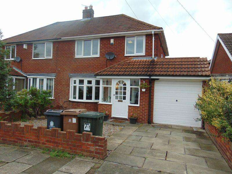 3 Bedrooms Semi Detached House for sale in Firtree Crescent, Forest Hall, Newcastle Upon Tyne