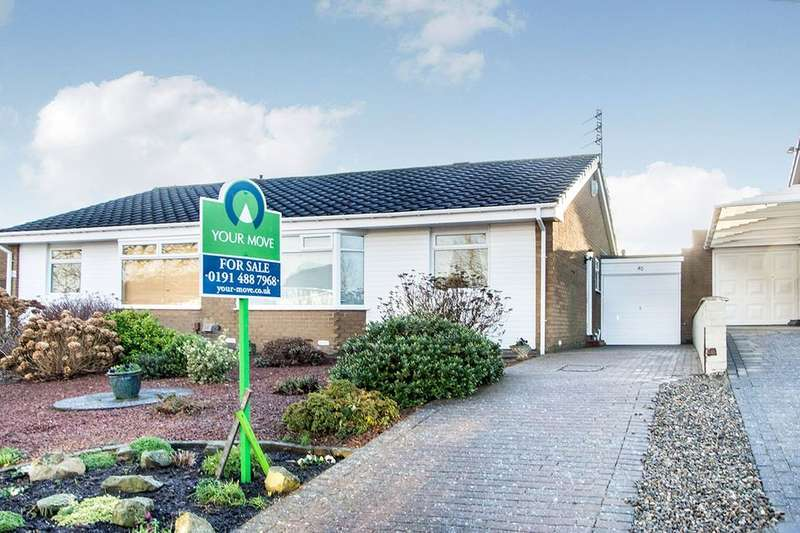 2 Bedrooms Semi Detached Bungalow for sale in Corsair, Whickham, Newcastle Upon Tyne, NE16