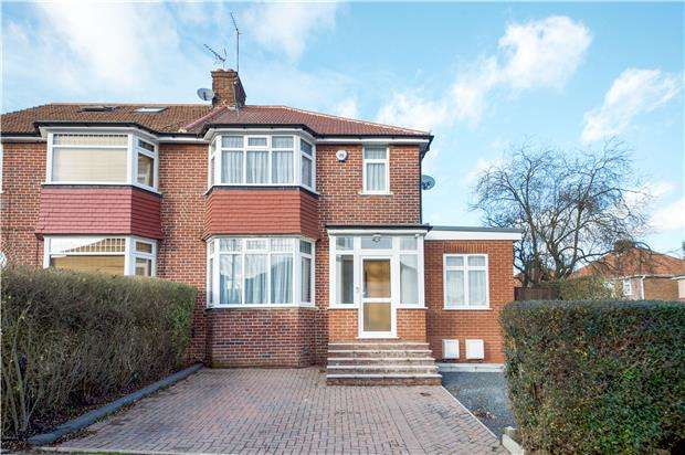 5 Bedrooms Semi Detached House for sale in Ennerdale Drive, KINGSBURY, NW9 0DT