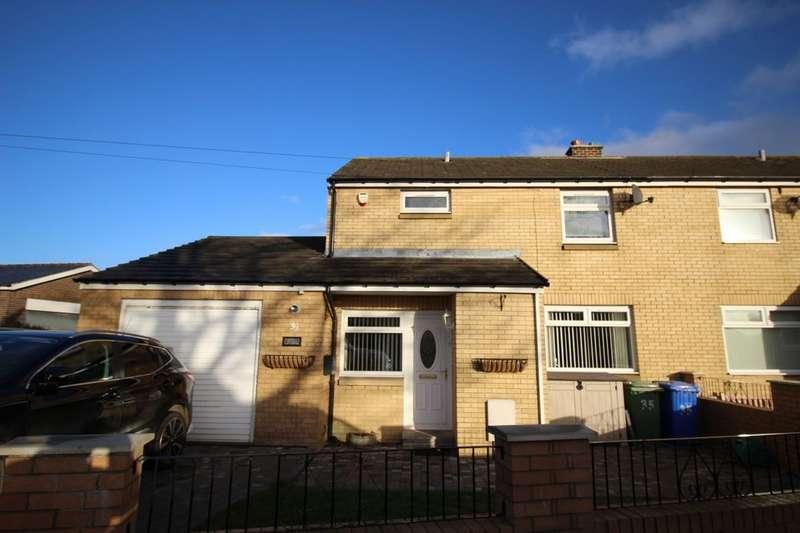 3 Bedrooms Semi Detached House for sale in Grange Road, Shilbottle, Alnwick, NE66