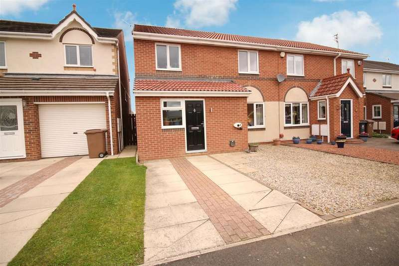 3 Bedrooms Semi Detached House for sale in Abbots Way, North Shields