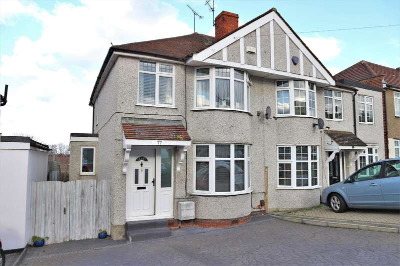 3 Bedrooms Semi Detached House for sale in Holmsdale Grove , Barnehurst, Kent , DA7 6PA