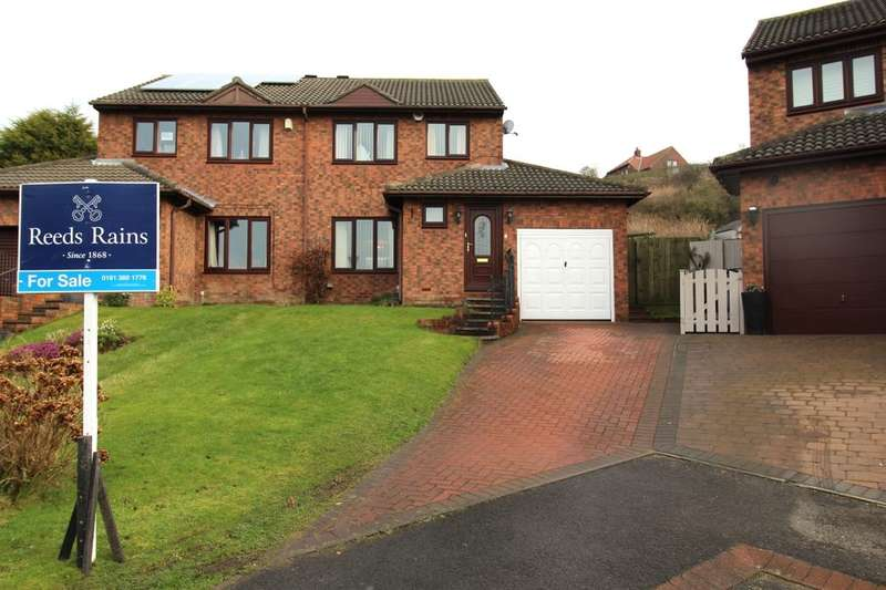 3 Bedrooms Semi Detached House for sale in Lynton Court, Houghton Le Spring, DH4