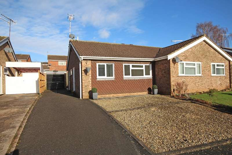 2 Bedrooms Semi Detached Bungalow for sale in Corbison Close, Woodloes Park, Warwick