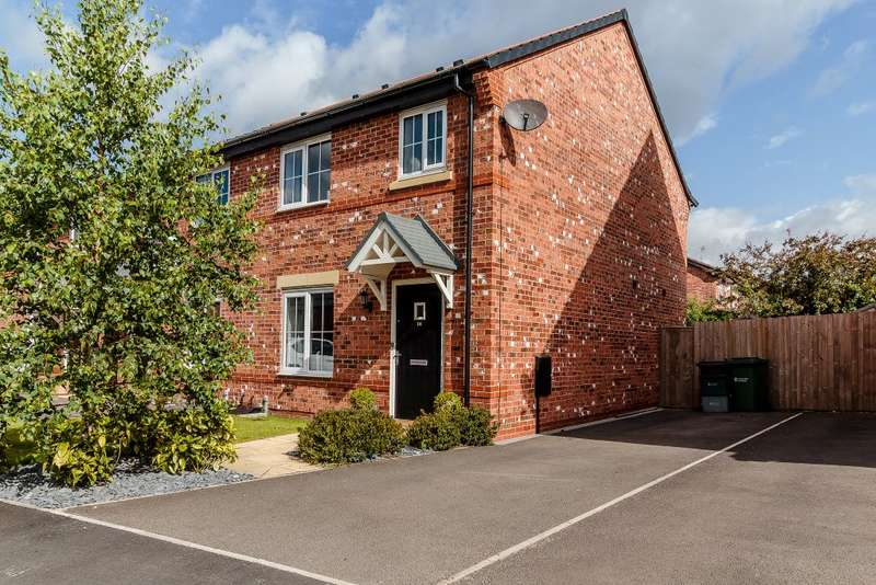 3 Bedrooms Semi Detached House for sale in Sandstone Lane, Tarporley, Cheshire, CW6 9HD