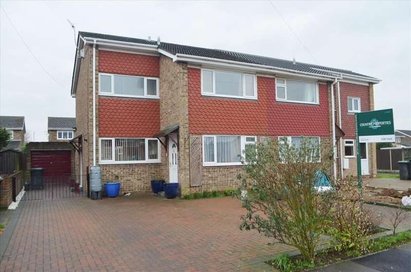 3 Bedrooms Semi Detached House for sale in Warren Close, Biggleswade, SG18