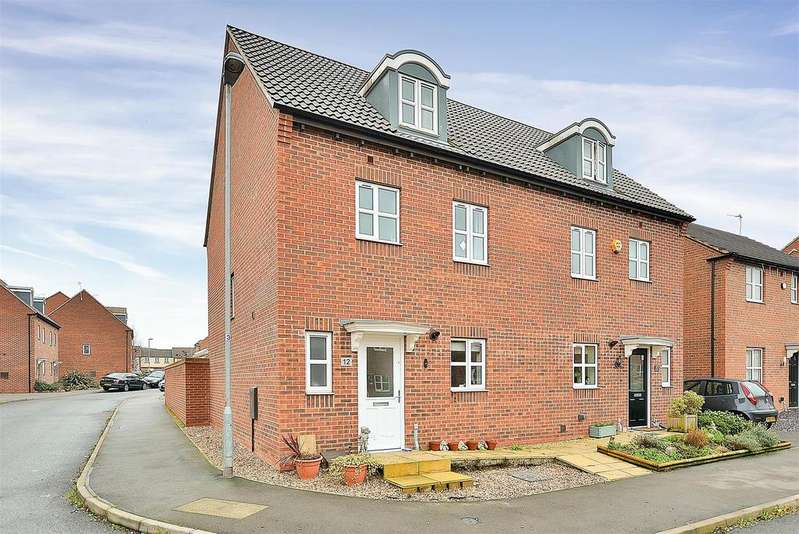 4 Bedrooms Semi Detached House for sale in Rockstone Way, Mansfield Woodhouse