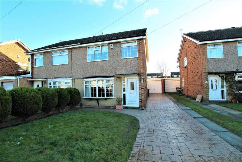 3 Bedrooms Semi Detached House for sale in Burnmoor Drive, Eaglescliffe, Stockton-On-Tees