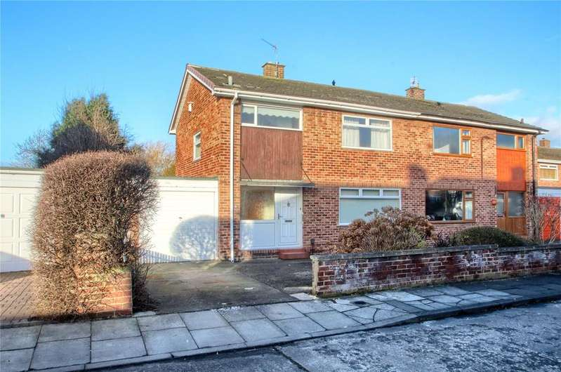 3 Bedrooms Semi Detached House for sale in Branksome Grove, Hartburn