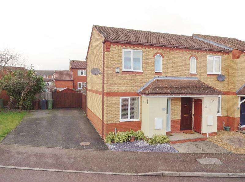 2 Bedrooms End Of Terrace House for sale in Dolver Close, Poppyfields, Corby