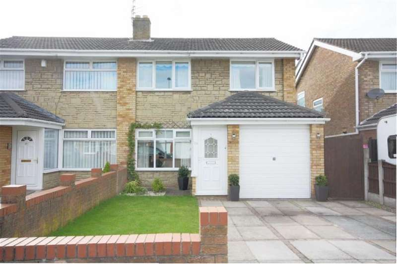 3 Bedrooms Semi Detached House for sale in Stirling Crescent, Sherdley Park, St Helens, WA9