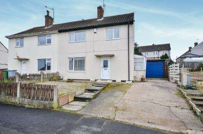 3 Bedrooms Semi Detached House for sale in Tudor Crescent, Rainworth, Mansfield, Nottinghamshire