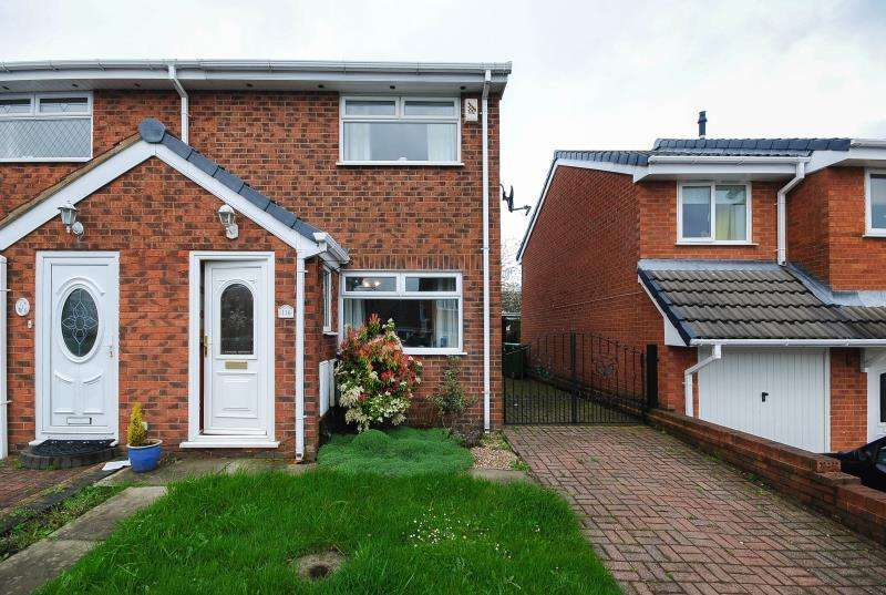 2 Bedrooms Semi Detached House for rent in Lincoln Drive, Aspull, Wigan, WN2 1UR