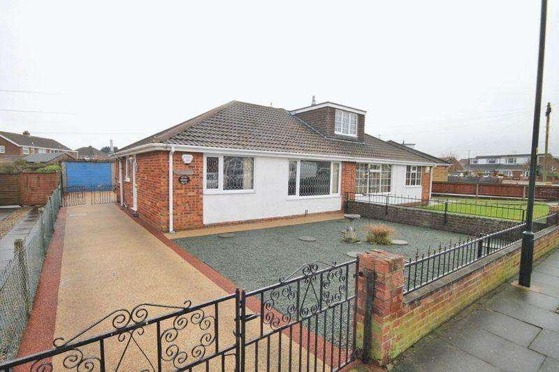 3 Bedrooms Semi Detached Bungalow for sale in SWABY DRIVE, CLEETHORPES