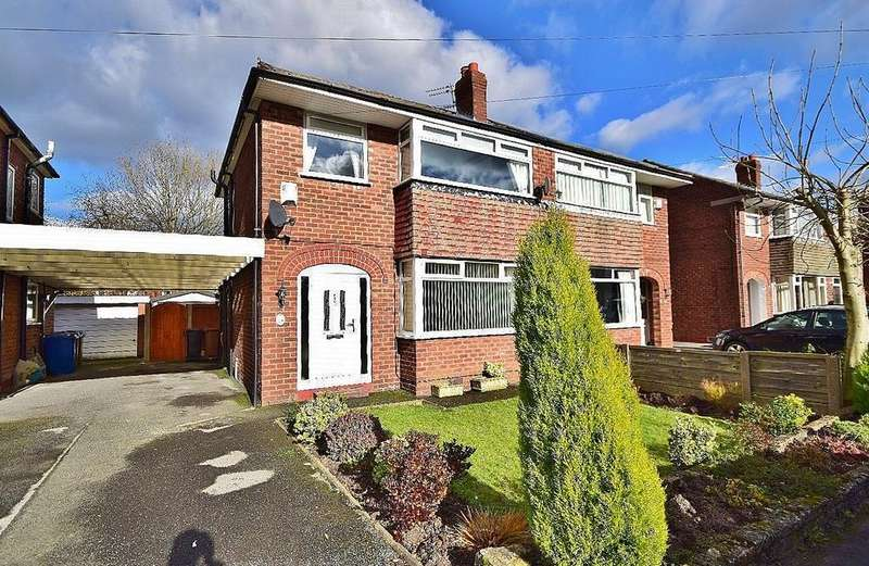 3 Bedrooms Semi Detached House for sale in Kilburn Close, Heald Green