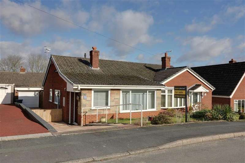 2 Bedrooms Semi Detached Bungalow for sale in Turnberry Drive, Trentham, Stoke-on-Trent